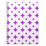 Púrpura de la estrella 7 libros de apuntes con espiral