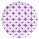 Púrpura de la estrella 7 platos para fiestas