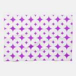 Púrpura de la estrella 7 toalla