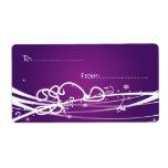 Púrpura de la etiqueta #1 del regalo de Navidad Etiqueta De Envío