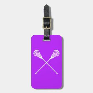 Púrpura de la etiqueta del equipaje de los palillo etiquetas bolsa
