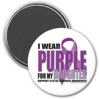 Púrpura de la fibrosis quística para la hija imán redondo 7 cm