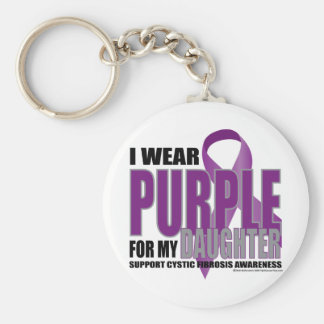 Púrpura de la fibrosis quística para la hija llavero redondo tipo pin
