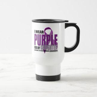 Púrpura de la fibrosis quística para la hija taza térmica