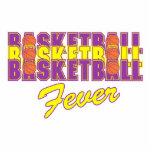 púrpura de la fiebre del baloncesto y diseño del esculturas fotograficas