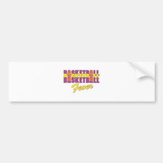 púrpura de la fiebre del baloncesto y diseño del pegatina para auto