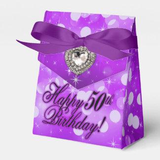 Púrpura de la fiesta de cumpleaños de la chispa de caja para regalos de fiestas
