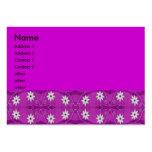 púrpura de la flor de la estrella tarjeta de visita
