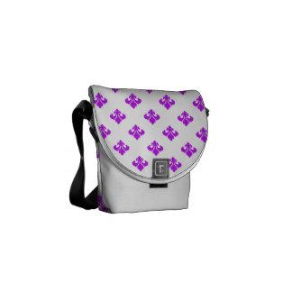 Púrpura de la flor de lis 1 bolsas de mensajería