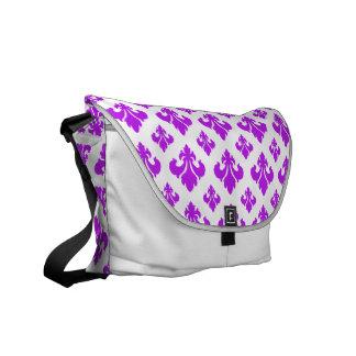 Púrpura de la flor de lis 2 bolsas de mensajería
