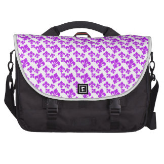 Púrpura de la flor de lis 4 bolsas para portátil