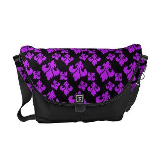 Púrpura de la flor de lis 4 bolsa messenger
