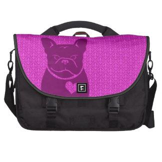 Púrpura de la FLOR DE LIS de FRENCHIE, bolso del o Bolsas Para Ordenador