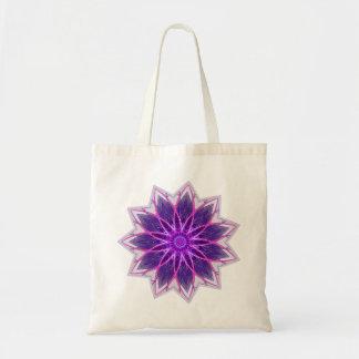 Púrpura de la flor del fractal - fractal floral ge bolsa tela barata