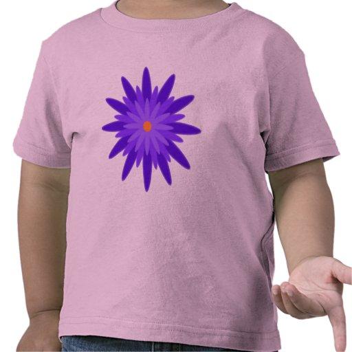 Púrpura de la floración camiseta