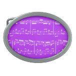 Púrpura de la hebilla del cinturón de la partitura hebillas de cinturon