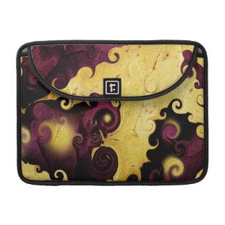 Púrpura de la hoja y caja abstracta de MacBook Pro Funda Para Macbooks