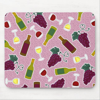 Púrpura de la impresión del amante del vino tapetes de ratón