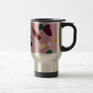 Púrpura de la impresión del amante del vino tazas