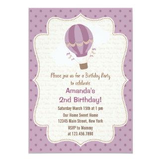 Púrpura de la invitación de la fiesta de