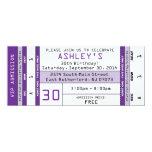 Púrpura de la invitación del boleto del concierto