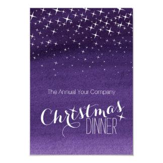 Púrpura de la invitación del fiesta de las invitación 8,9 x 12,7 cm