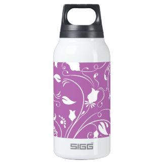 Púrpura de la lavanda, remolinos florales blancos;
