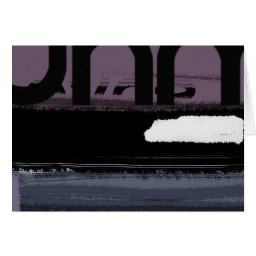 Púrpura de la letra felicitacion