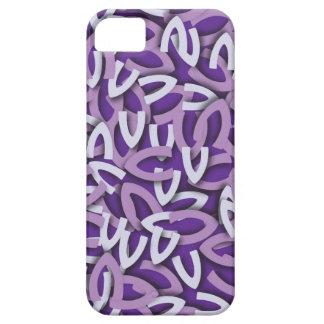 Púrpura de la letra V iPhone 5 Carcasas