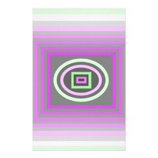 Púrpura de la lila de la lavanda y verde de la esp papelería de diseño