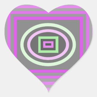 Púrpura de la lila de la lavanda y verde de la esp calcomanías corazones personalizadas