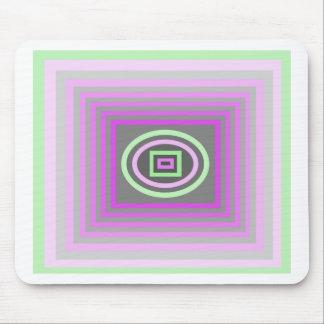 Púrpura de la lila de la lavanda y verde de la esp alfombrillas de ratones