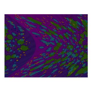 púrpura de la mancha postales