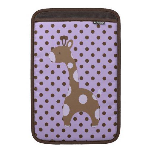 Púrpura de la manga de aire de MacBook de la jiraf Funda Para Macbook Air