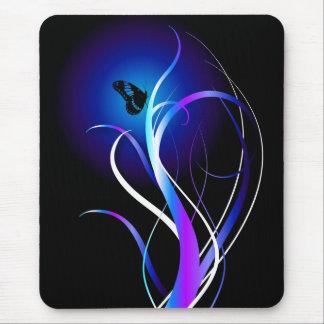Púrpura de la mariposa tapetes de ratón