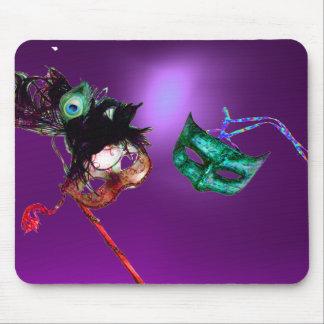 Púrpura de la MASCARADA del CARNAVAL Mouse Pads