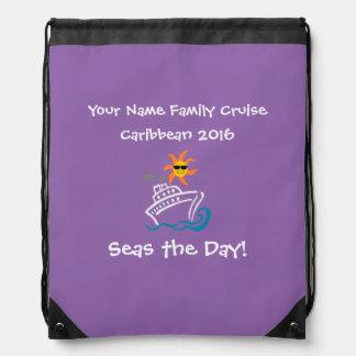 ¡Púrpura de la mochila del lazo de la travesía -
