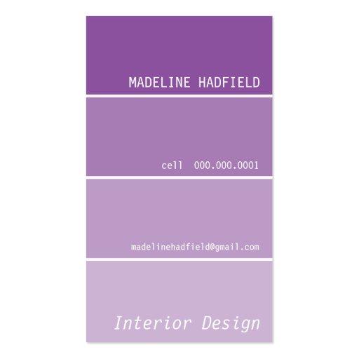 Púrpura de la muestra del microprocesador de la tarjetas de visita