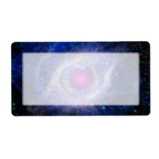 Púrpura de la NASA de la nebulosa de la hélice Etiquetas De Envío