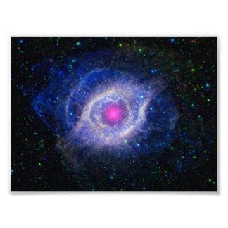 Púrpura de la NASA de la nebulosa de la hélice Impresiones Fotograficas