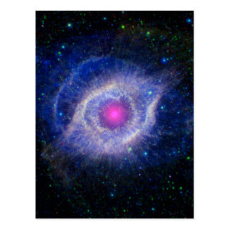 Púrpura de la NASA de la nebulosa de la hélice Tarjetas Postales