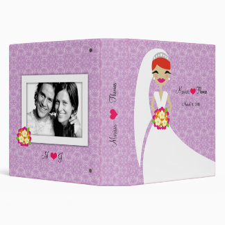"""púrpura de la novia 311-Redhead Carpeta 1 1/2"""""""