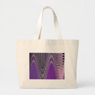 púrpura de la onda bolsa tela grande