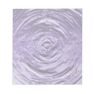 Púrpura de la ondulación del agua bloc de notas