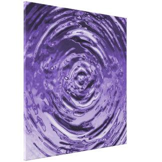 Púrpura de la ondulación del agua impresión en lienzo