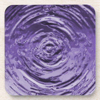 Púrpura de la ondulación del agua posavasos de bebida