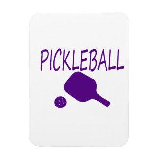 púrpura de la paleta y de la bola del pickleball w imanes