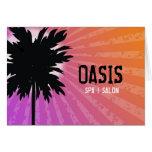 Púrpura de la palma de 311 oasis tarjeta