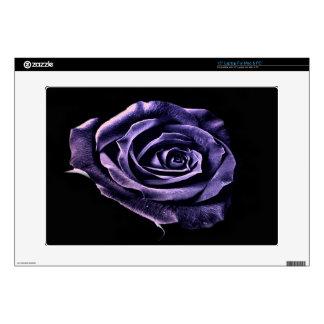Púrpura de la piel del ordenador portátil subió calcomanías para 38,1cm portátiles