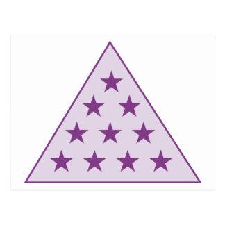 Púrpura de la pirámide de la sigma pi postal